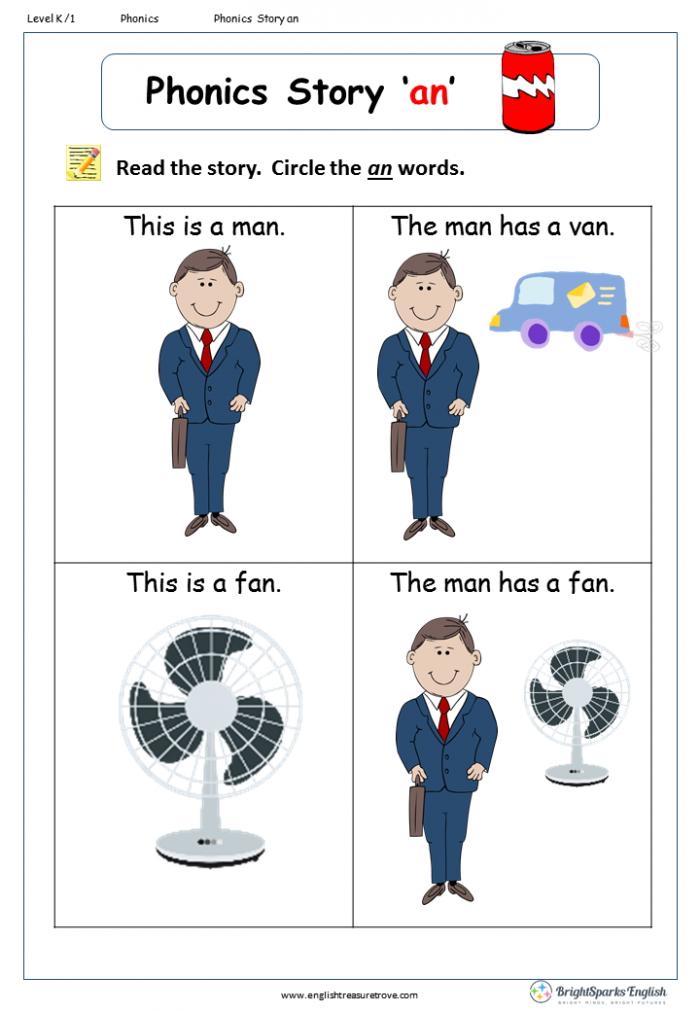 Word Family Story An English Phonics Worksheet English